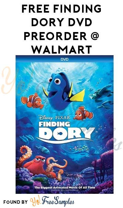 LAST DAY: FREE Finding Dory Disney Pixar DVD Preorder At Walmart After Cashback (New TopCashBack Members Only)