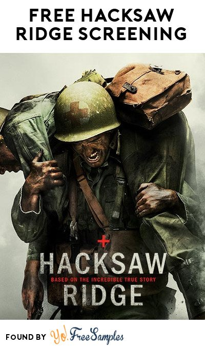 FREE Hacksaw Ridge Movie Screening On November 1st