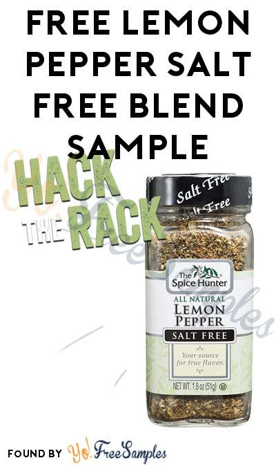 FREE Spice Hunter Lemon Pepper Salt Free Blend Sample (Facebook Required / Not Mobile Friendly)