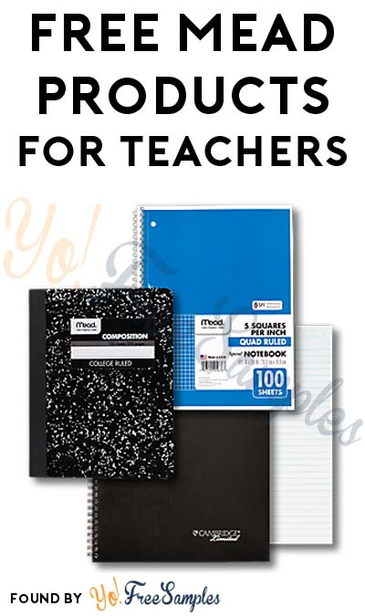 Free products for teachers