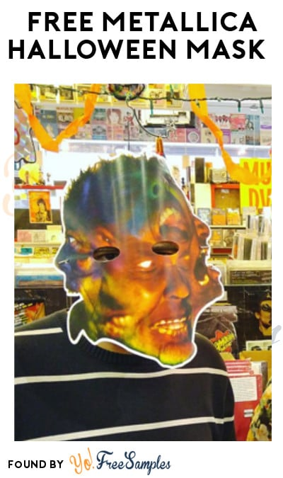 TODAY ONLY: FREE Metallica Halloween Mask At Local Record Stores