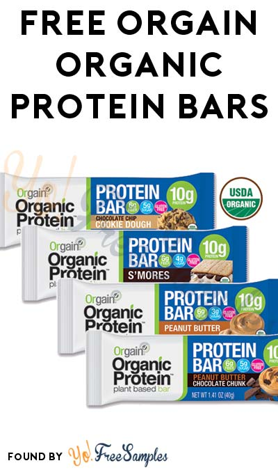 FREE Orgain Organic Protein Bars (Mom Ambassador Membership Required)