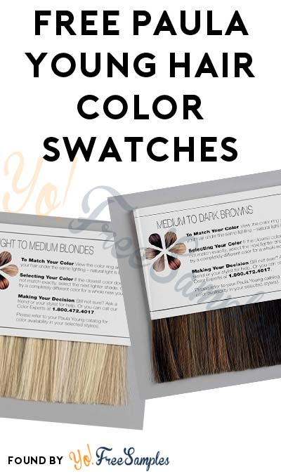 FREE Paula Young Hair Color Swatches [Verified Received By Mail]
