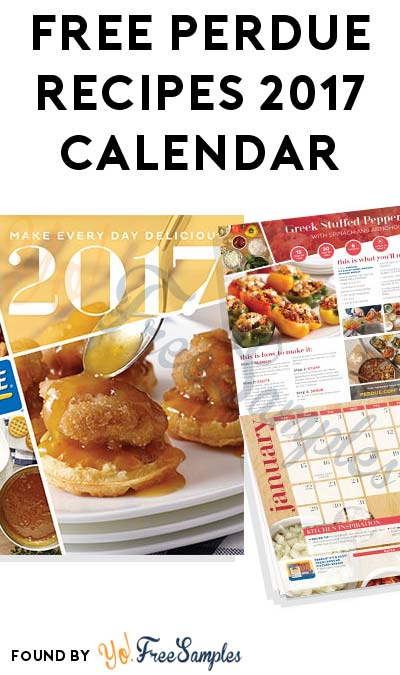 FREE Perdue Recipes 2017 Calendar