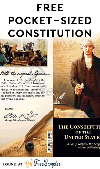 FREE Pocket-Sized Constitution From University of Maryland