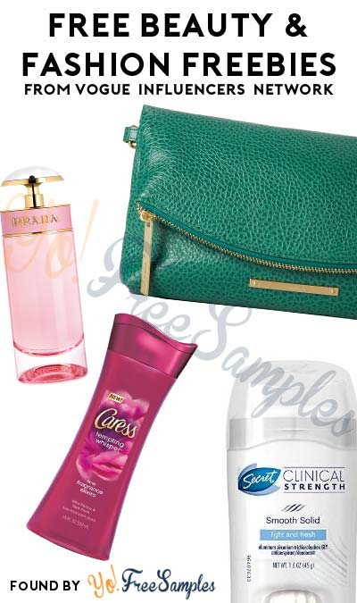 Possible FREE Prada Pefume, Secret Deodorant, Caress Body Wash, Clutches & Other Samples From Vogue Influencers Network