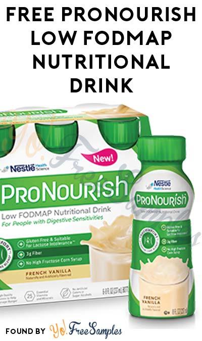 FREE ProNourish Low FODMAP Nutritional Drink