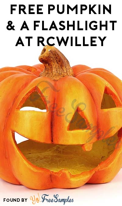 FREE Pumpkin & A Flashlight At RCWilley (CA, ID, NV & UT Only)