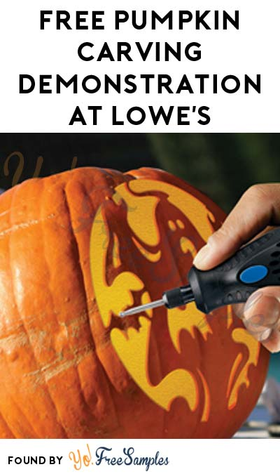 Registration Open: FREE Pumpkin Carving Demonstration At Lowe's