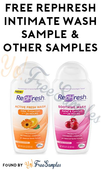 Possible FREE RepHresh Intimate Wash & Other Samples - Yo! Free ...