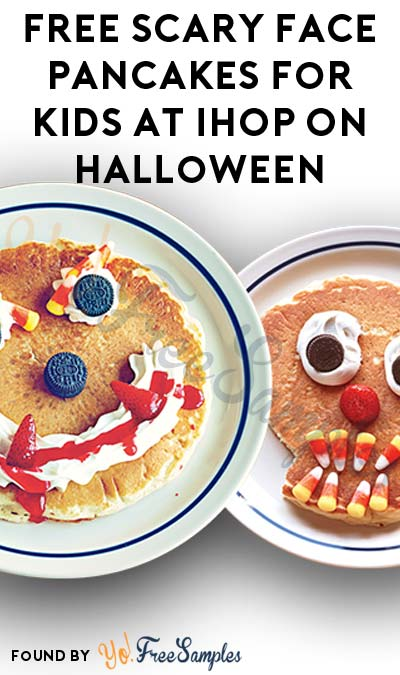 FREE Scary Face Pancakes For Kids At IHOP On Halloween