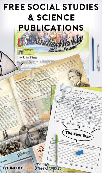 FREE Social Studies & Science Publications For Assorted Grade Levels & States (Teachers Only)