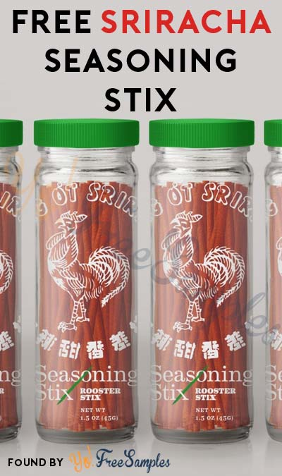 Address Form Added: FREE Sriracha Seasoning Stix Product Sample