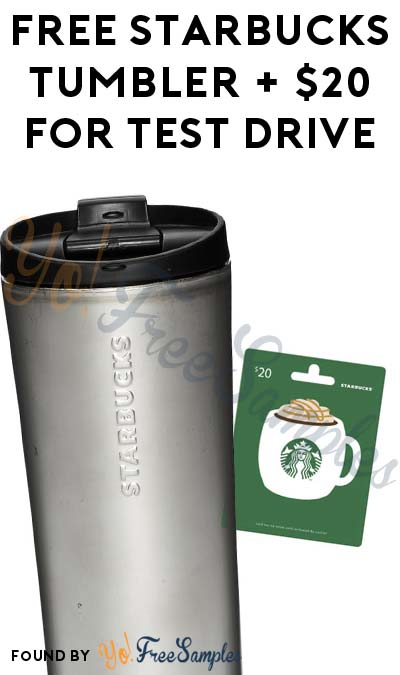 FREE Starbucks Tumbler With $20 Credit For Test Driving A Subaru