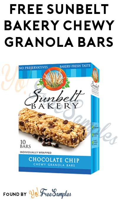 FREE Sunbelt Bakery Chewy Granola Bars (MobiSave Required)