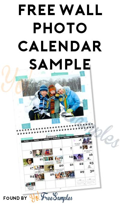 FREE Wall Photo Calendar Sample