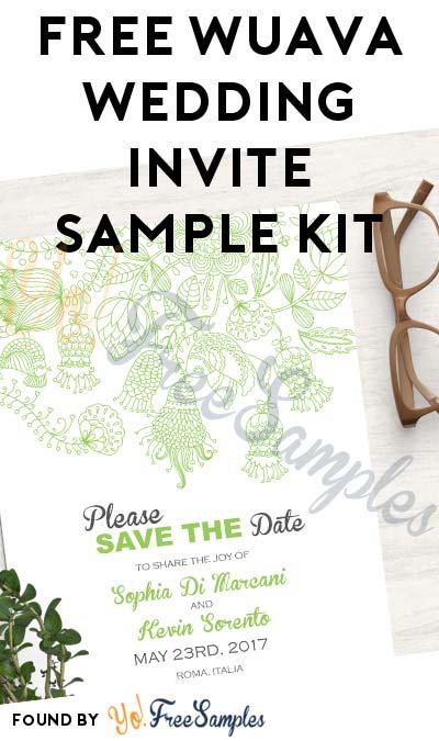 FREE Wuava Wedding Invite Sample Kit