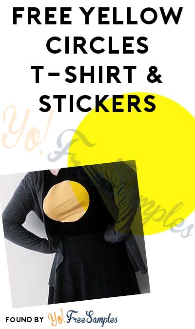 FREE Yellow Circles T-Shirt & Stickers
