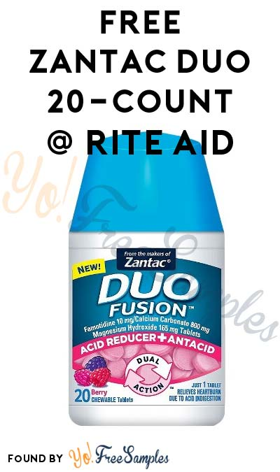 FREE Zantac Duo 20-Count Bottle At Rite Aid (Coupon & Rebate Required)