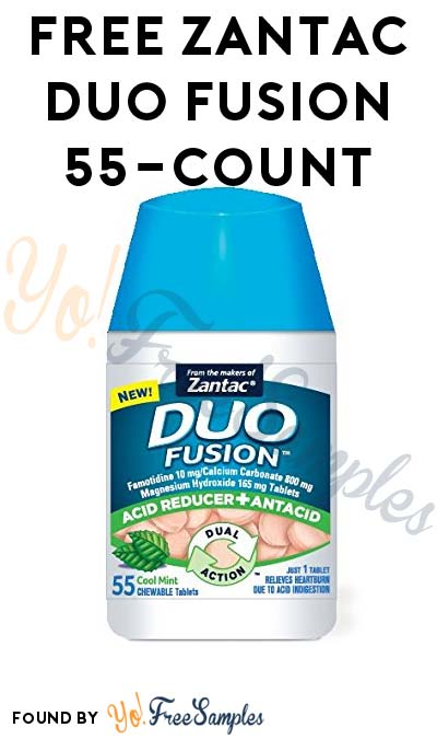FREE Zantac Duo Fusion 55-Count At Most Stores (Rebate Required)