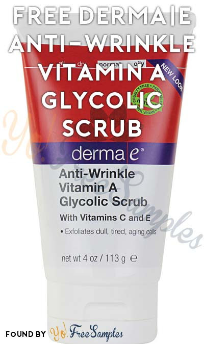 FREE derma|e Anti-Wrinkle Vitamin A Glycolic Scrub [Verified Received By Mail]
