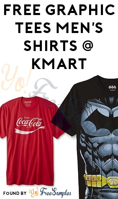 FREE or Nearly FREE Graphic Tees Men's Shirts After In-Store Pick Up & Kmart Cashback