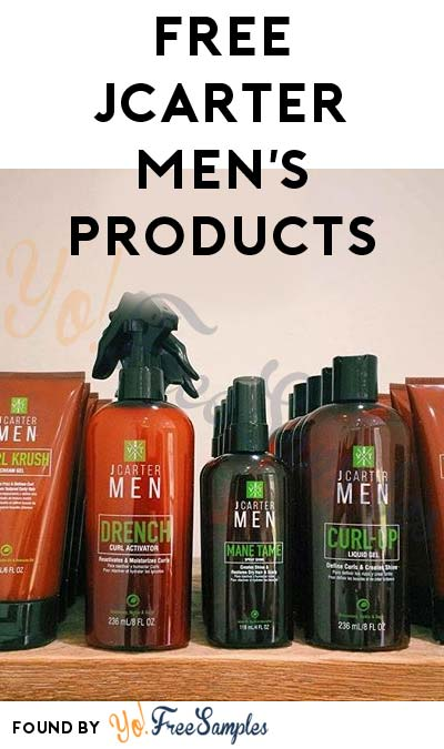 FREE JCarter Men's Hair Care Product Samples (Survey Required)