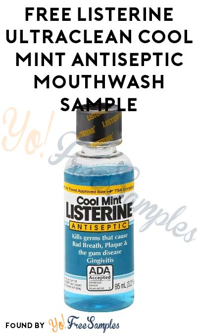 FREE Listerine UltraClean Cool Mint Antiseptic Mouthwash (Must Apply With Crowdtap)