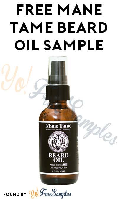 FREE Mane Tame Beard Oil Sample
