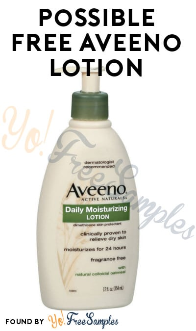 Possible FREE Aveeno Body Lotion From Home Tester Club (Survey Required)