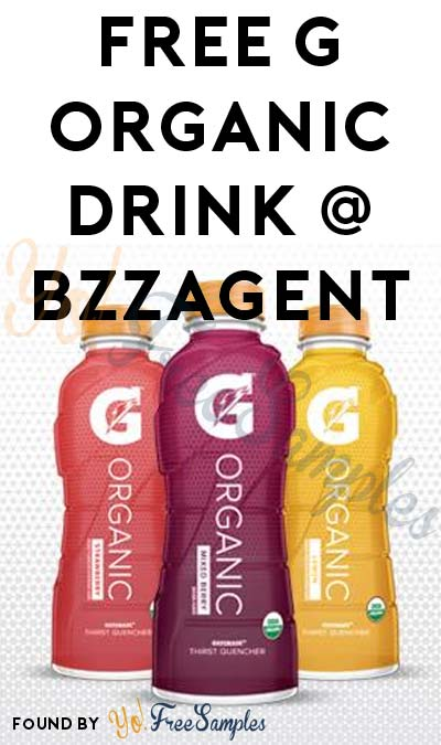 Possible FREE G Organic Drink From BzzAgent