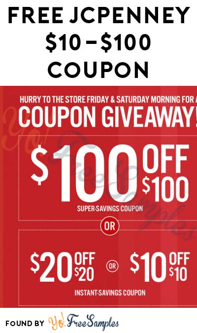 FREE $10 Off $10 JCPenney Coupon In-Store On 10/21