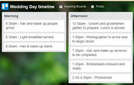 Trello for Wedding Planner - Free