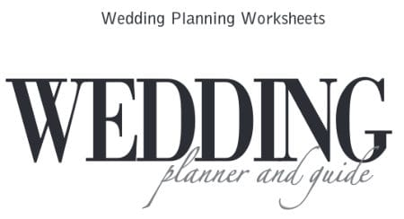 free wedding plan worksheet