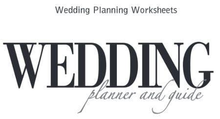free wedding plan worksheet