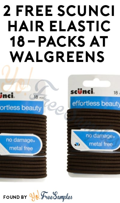 TODAY ONLY: 2 FREE Scunci Hair Elastic 18-Packs At Walgreens (Coupon Required)
