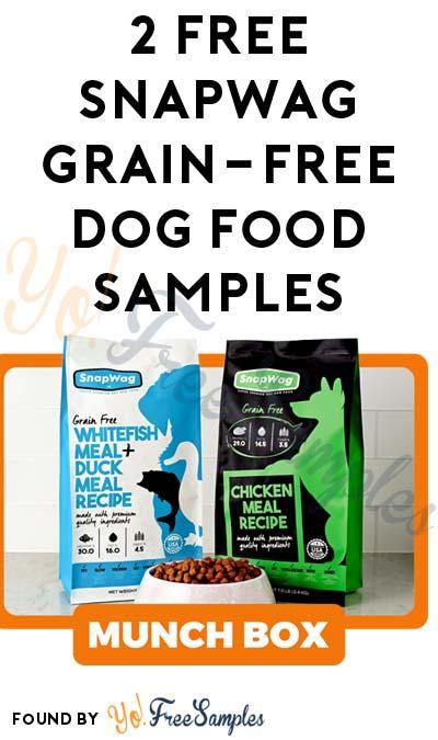 2 FREE SnapWag Grain-Free Dog Food Samples