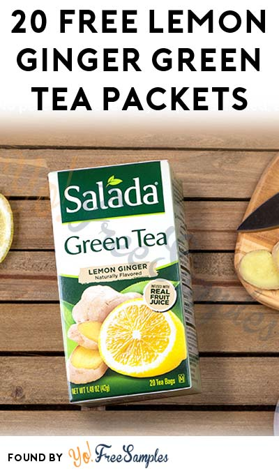 20 FREE Lemon Ginger Green Tea Packets