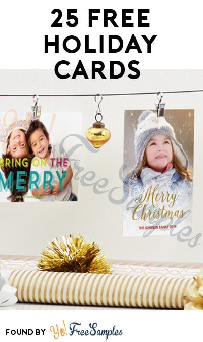 25 FREE Holiday Cards For Amazon Prime Members