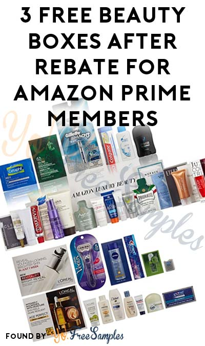 3 FREE Beauty Sample Boxes After Rebate For Amazon Prime Members [Verified Received By Mail]