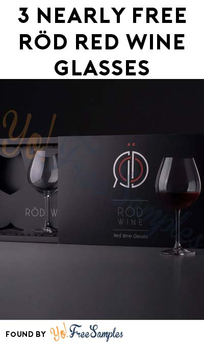 3 Nearly FREE RÖD Red Wine Glasses On Amazon (Free Shipping With Prime) [Verified Received By Mail]