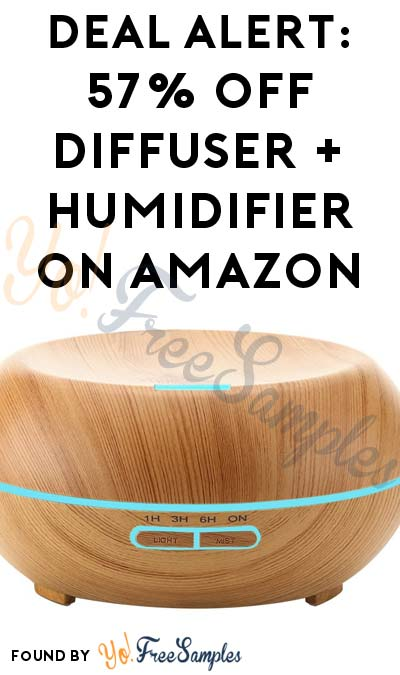 DEAL ALERT: 57% OFF URPOWER Wood Grain Essential Oil Diffuser + Humidifier On Amazon With Code 6VQHCELF (Free Shipping With Prime)