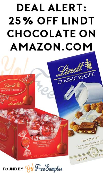 DEAL ALERT: 25% OFF Lindt Chocolate On Amazon.com