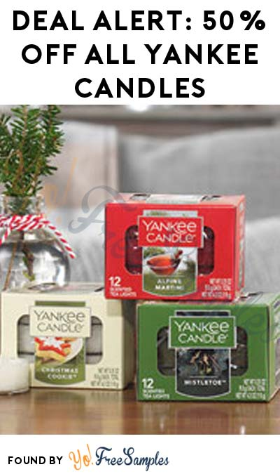 DEAL ALERT: 50% OFF All Candles & Car + Home Fragrances At Yankee Candle