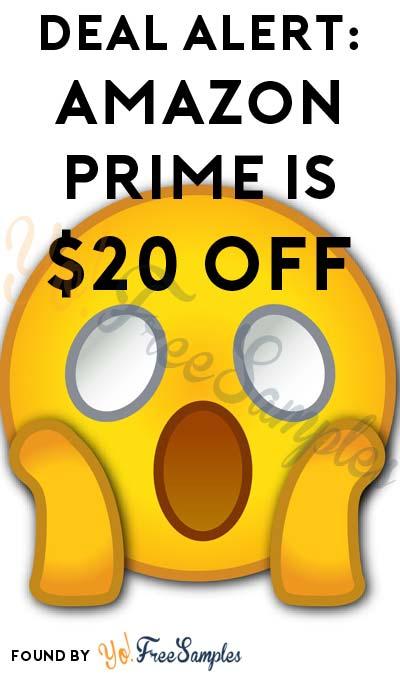 DEAL ALERT: Amazon Prime $20 OFF