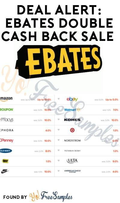 DEAL ALERT: Ebates Double Cash Back Sale Today Only (11/25/16)