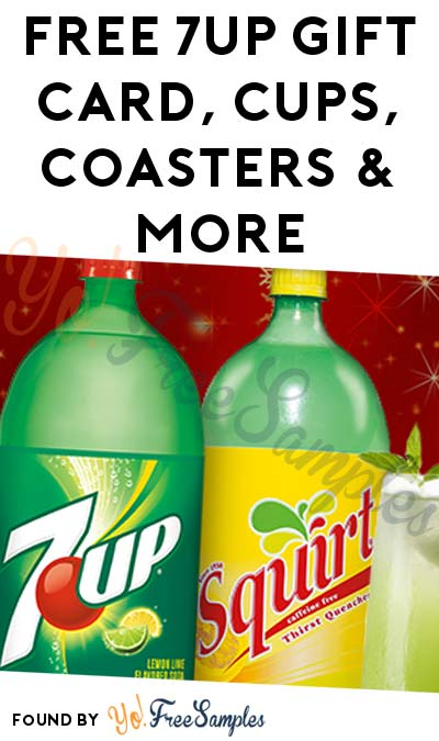FREE 7UP Gift Card, Cups, Coasters & More (Apply To HouseParty.com & CT, DC, DE, MA, MD, PA, NJ, NY, RI, VA, WV Only)