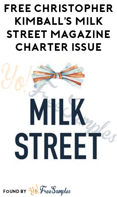FREE Christopher Kimball's Milk Street Magazine Charter Issue [Verified Received By Mail]