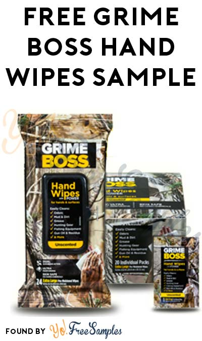 FREE Grime Boss Dual Scrubbing Surface & Hand Wipes [Verified Received By Mail]