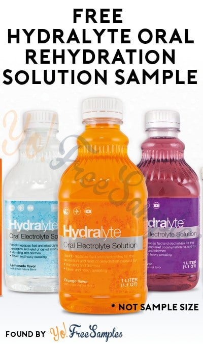 ENDS TODAY: FREE Hydralyte Oral Rehydration Solution Sample